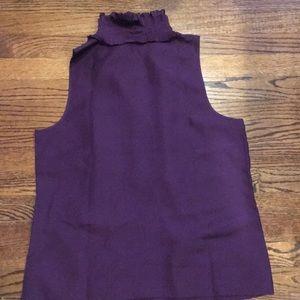 Kenar Tops - Kenar sleeveless ruffle NWOT blouse - Size L-Silk